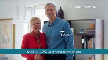 California Closets TV Spot, 'Every Visit: Save 20%'