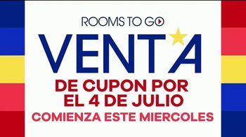 Rooms to Go Venta de Cupón por el 4 de Julio TV Spot, 'Compras fáciles: 60 meses' [Spanish] - Thumbnail 2
