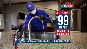 ARS Rescue Rooter TV Spot, 'Leaky Faucet: $99 Off Plumbing or Drain Repair'