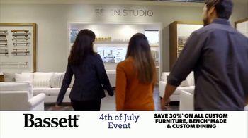 Bassett 4th of July Event TV Spot, 'Time for Custom Furniture' - Thumbnail 1