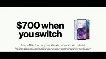 Verizon TV Spot, 'Unlimited Built Right: $700 Switcher' - Thumbnail 7