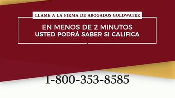 Goldwater Law Firm TV Spot, 'Atención: Linfoma: dos minutos' [Spanish] - Thumbnail 4