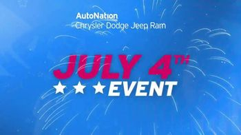 AutoNation Chrysler Jeep Dodge Ram July 4th Event TV Spot, 'Freedom From Payments' - Thumbnail 4