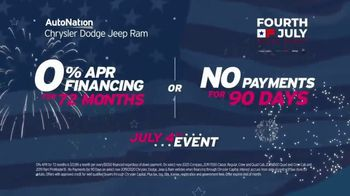 AutoNation Chrysler Jeep Dodge Ram July 4th Event TV Spot, 'Freedom From Payments' - Thumbnail 9
