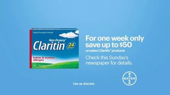 Claritin TV Spot, 'Feel the Clarity: Save $50' - Thumbnail 6