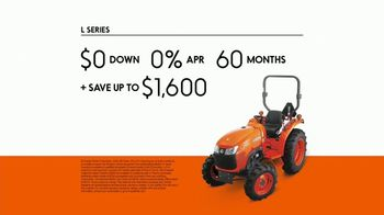 Kubota L Series TV Spot, 'Power and Dependability: $0 Down' - Thumbnail 8