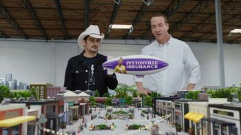 Nationwide Insurance TV Spot, 'Peytonville: Famous Agent' Featuring Peyton Manning, Brad Paisley - 2897 commercial airings
