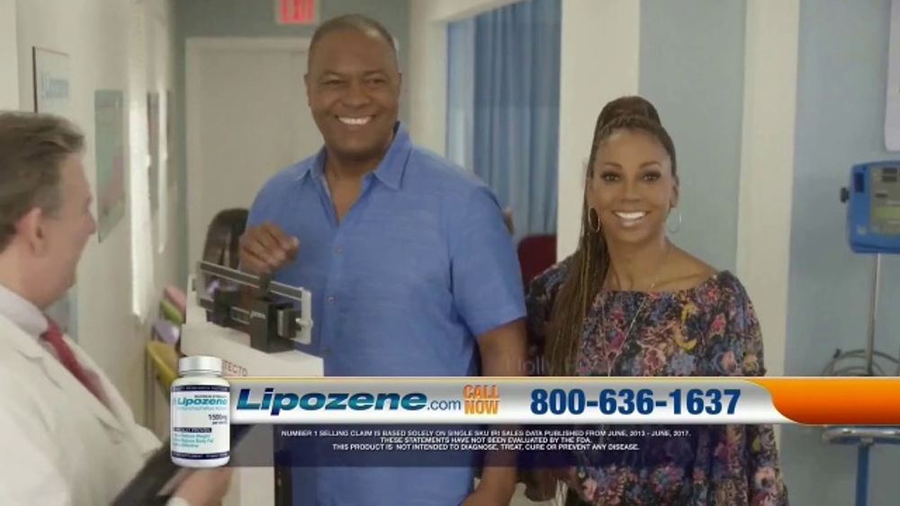 Lipozene TV Commercial, 'Four Pants Sizes' Featuring Holly Robinson Peete and Rodney Peete