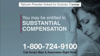Avram Blair & Associates TV Spot, 'Talcum Powder: Ovarian Cancer' - Thumbnail 8