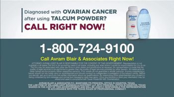 Avram Blair & Associates TV Spot, 'Talcum Powder: Ovarian Cancer' - Thumbnail 9