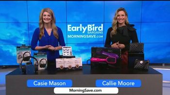 MorningSave Early Bird Bargains TV Spot, 'Sharper Image TV Headphones, Glossmetics Eyelashes & Infinity Gold Brushes'