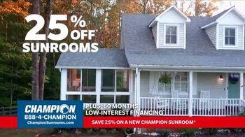 Champion Windows TV Spot, 'Sunroom: 25 Percent Off' - Thumbnail 3