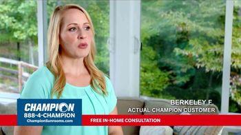 Champion Windows TV Spot, 'Sunroom: 25 Percent Off' - Thumbnail 4