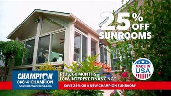 Champion Windows TV Spot, 'Sunroom: 25 Percent Off' - Thumbnail 6