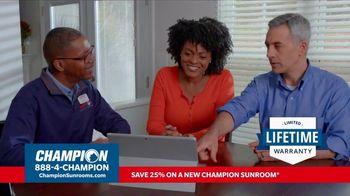 Champion Windows TV Spot, 'Sunroom: 25 Percent Off' - Thumbnail 7