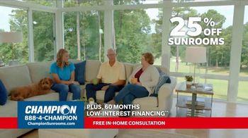 Champion Windows TV Spot, 'Sunroom: 25 Percent Off' - Thumbnail 9