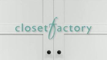 Closet Factory TV Spot, 'Spending More Time at Home?' - Thumbnail 1