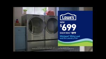 Lowe's TV Spot, 'Staying Home: Whirlpool White Load and Go Laundry Pair' - Thumbnail 8
