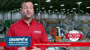 Champion Windows TV Spot, 'More Than 10 Years: 40 Percent Off' - Thumbnail 5