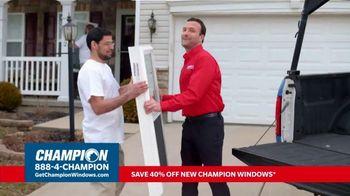 Champion Windows TV Spot, 'More Than 10 Years: 40 Percent Off' - Thumbnail 6