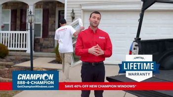 Champion Windows TV Spot, 'More Than 10 Years: 40 Percent Off' - Thumbnail 7
