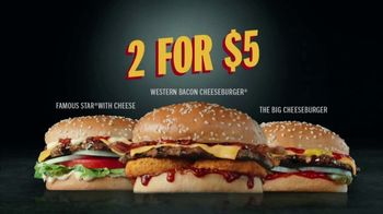 Hardee's 2 for $5 Mix and Match TV Spot, 'Charbroiled Burger Game' - Thumbnail 4