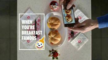 Jack in the Box Breakfast Croissants TV Spot, 'Breakfast Famous: Felt Cute' - Thumbnail 1