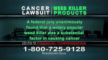 Knightline Legal TV Spot, 'Weed Killer Products' - Thumbnail 4