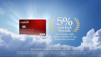 Credit One Bank Platinum Rewards Card TV Spot, 'God of Cash Back: Gas Station' - Thumbnail 10