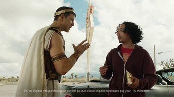 Credit One Bank Platinum Rewards Card TV Spot, 'God of Cash Back: Gas Station' - Thumbnail 5