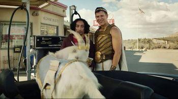 Credit One Bank Platinum Rewards Card TV Spot, 'God of Cash Back: Gas Station'