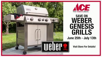 ACE Hardware TV Spot, 'Grilling Out: Save on Weber Grills'