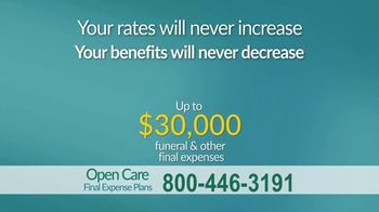 Open Care Insurance Services Final Expense Plan TV Spot, 'At Peace: Prescription Discount Card' - Thumbnail 7