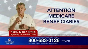 The Medicare Helpline TV Spot, 'Attention, Anyone on Medicare' Featuring Mike Ditka