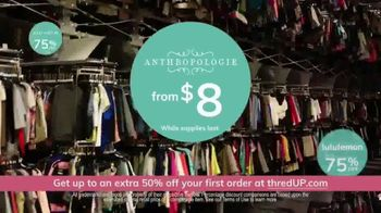 thredUP TV Spot, 'Secondhand Clothing: Up 50 Percent Off' - Thumbnail 7