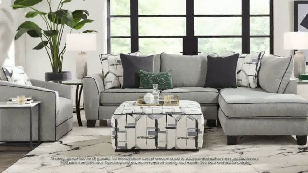 Rooms to Go July 4th Hot Buys TV Commercial, 'Two Piece Sectional and Ottoman: $999'