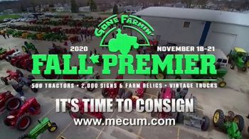 Mecum Gone Farmin' 2020 Fall Premier TV Spot, 'Best Time to Consign'