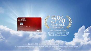 Credit One Bank Platinum Rewards Card TV Spot, 'God of Cash Back: Grocery Store' - Thumbnail 10