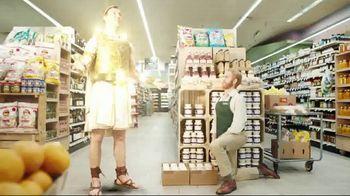 Credit One Bank Platinum Rewards Card TV Spot, 'God of Cash Back: Grocery Store'