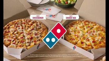 Domino's Cheeseburger and Chicken Taco Pizza TV Spot, 'Designed to Be Delivered' - Thumbnail 10