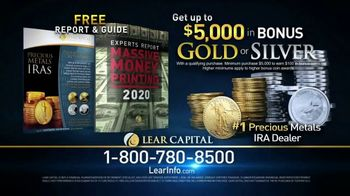 Lear Capital TV Spot, 'Massive Money Printing: Get Up to $5,000 in Bonus Gold or Silver' - Thumbnail 8