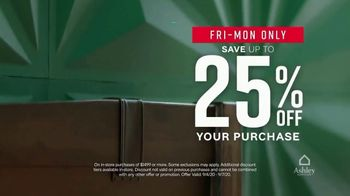 Ashley HomeStore Labor Day Sale TV Spot, '25% Off & Financing' - Thumbnail 4