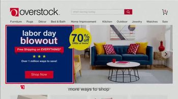 Overstock.com Labor Day Blowout TV Spot, '15% Off' - Thumbnail 7
