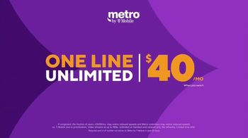 Metro by T-Mobile TV Spot, 'Best Plan: One Line of Unlimited for $40' - Thumbnail 2