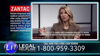 Dalimonte Rueb, LLP TV Spot, \'Zantac Legal Helpline\'