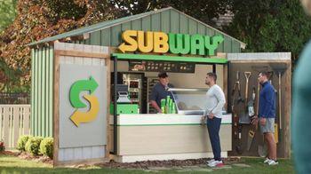 Subway TV Spot, 'The Watt Family Shed' Featuring Derek Watt, J.J. Watt, T.J. Watt - Thumbnail 4