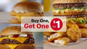 McDonald's Buy One, Get One for $1 TV Spot, 'Switch It Up or Match It Up: Burgers' - Thumbnail 2