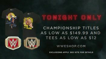 WWE Shop TV Spot, 'Crafted By History: Championship Titles $149' - Thumbnail 9