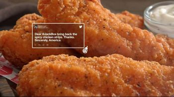 Jack in the Box Spicy Chicken Strips Combo TV Spot, 'A Little Birdie Told Me: $4.99' - Thumbnail 2