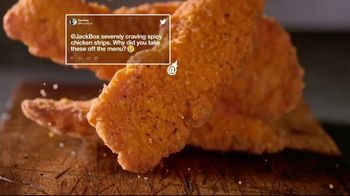 Jack in the Box Spicy Chicken Strips Combo TV Spot, 'A Little Birdie Told Me: $4.99' - Thumbnail 4